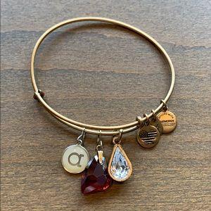 Alex an Ani bracelet with 3 pendants